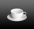 Dibbern Fine Bone China Classic - Coffee / Tea cup + saucer round 0.25 l