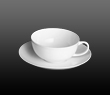 Dibbern Fine Bone China Classic - Tea cup + saucer low rim 0.20 l